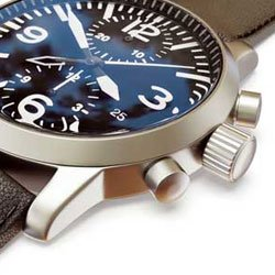 watch crown and buttons on right hand side of watch.