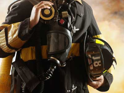 fireman with gear