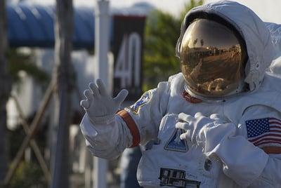 astronaut in full suit