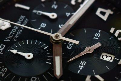 close up chronograph watch
