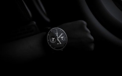 watch dial in the dark