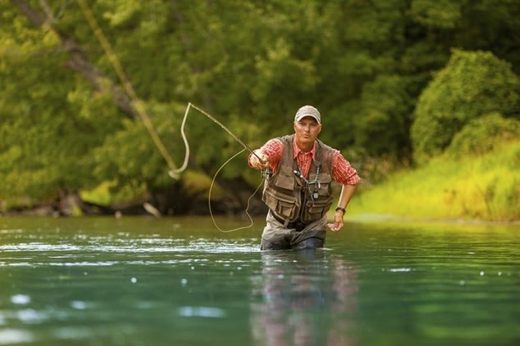 fly fisherman wearing watch