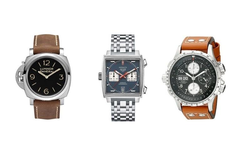 Panerai, Tag Monaco, Hamilton left handed watches