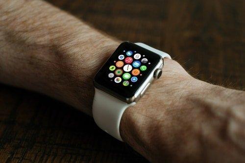 apple watch on male wrist