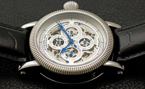 Stuhrling watch close up