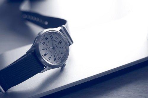 Timex watch with black strap