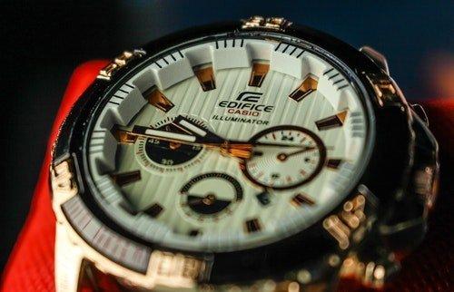 close up of casio watch