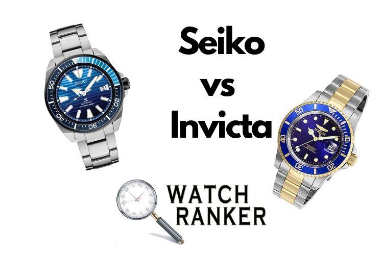 seiko and invicta comparison
