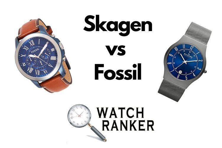 skagen and fossil watch side by side