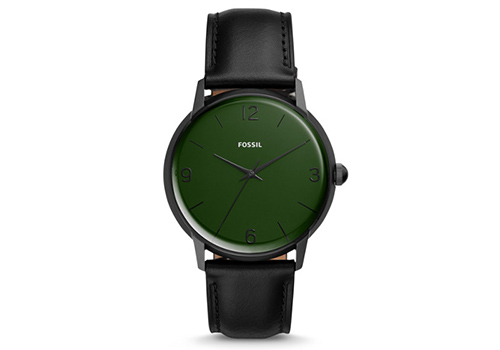 Fossil The Archival Series Mood Watch Three-Hand Black Leather (LE1065P)