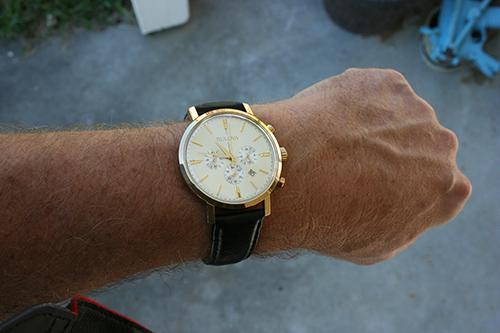 Man wearing Bulova watch