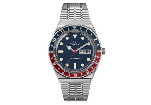 Q Timex 1979 Reissue 38mm Stainless Steel Bracelet Watch TW2T80700ZV