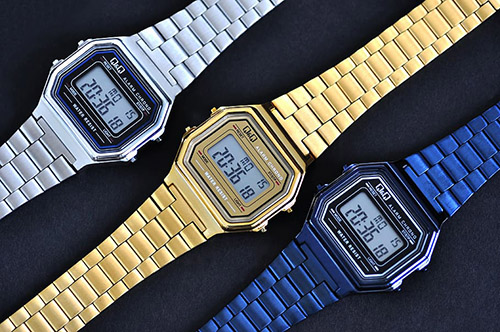 Three casio rectangular watches