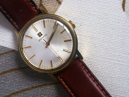 Zenith leather watch