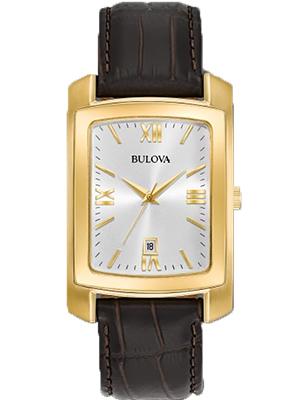 Bulova 97B162 Rectangular Gold