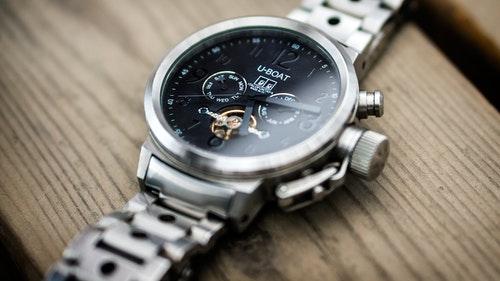 Silver U-Boat watch