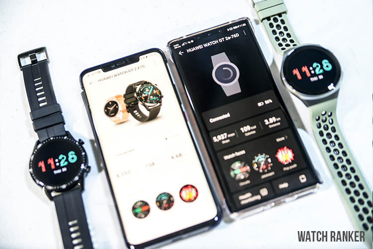 Huawei GT2 vs GT2e software
