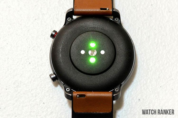 amazfit gtr heart rate sensor