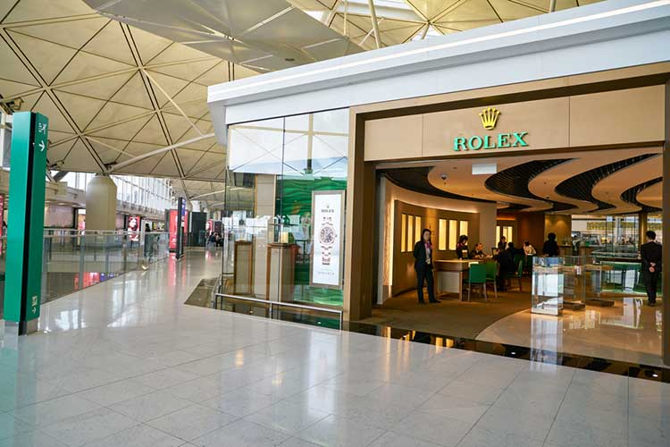 Hong Kong International Airport Rolex Store