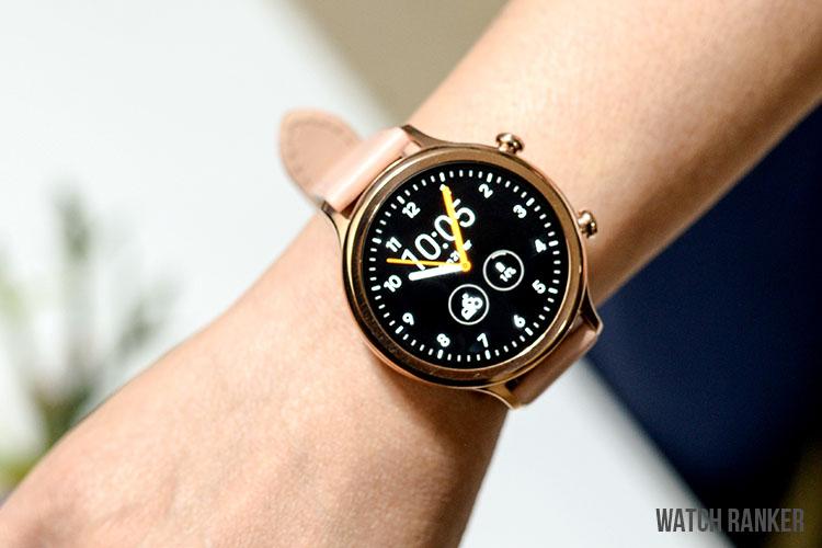 TicWatch C2+ on female small wrist