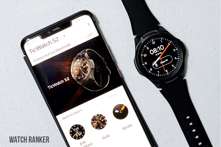 Wear OS Smartphone app with TicWatch S2