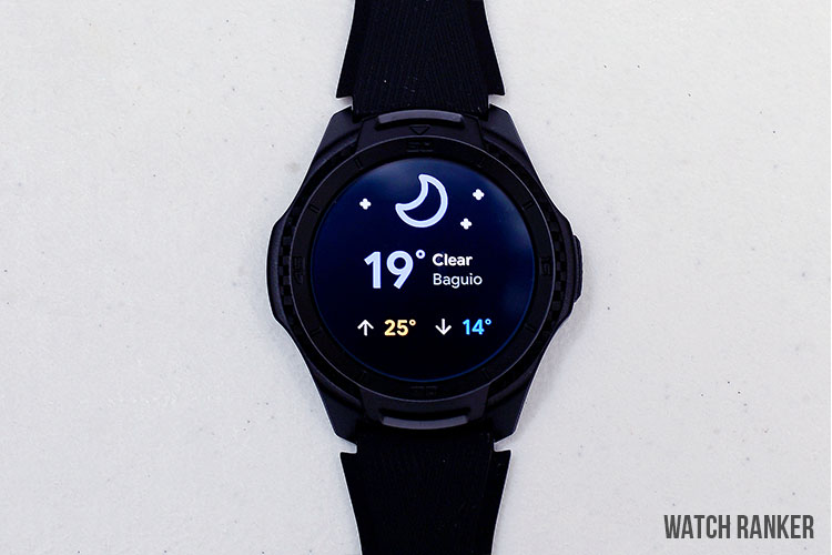 TicWatch S2 Weather Notifications