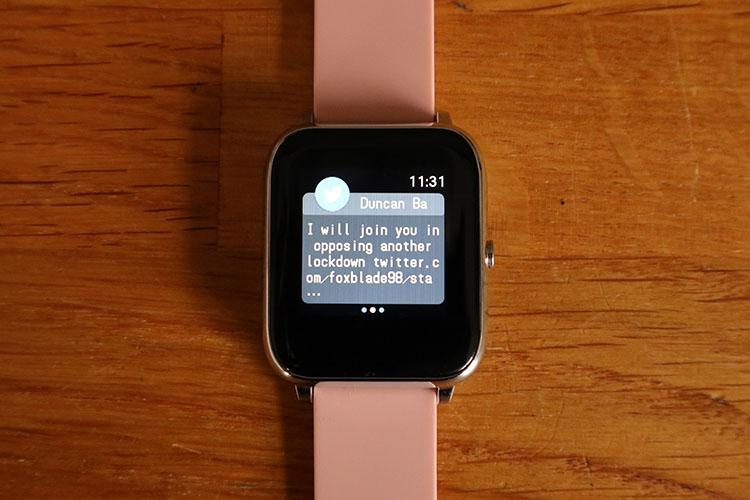 popglory smartwatch notification