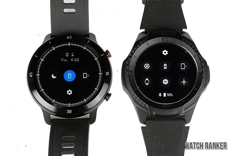 GTX vs S2 watch software performance