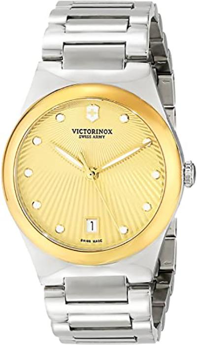 Victorinox Women's Victoria Analog Display Swiss Quartz Silver Watch
