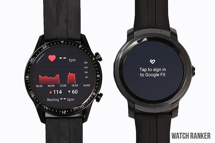 GT2 vs E2 Heart rate