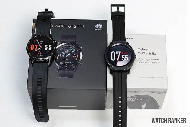 GT2 vs E2 watch display