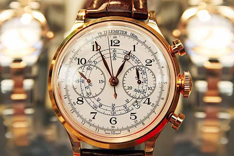 Elegant Watch Display in Store