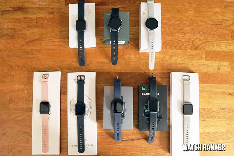 cheap smartwatches on boxes