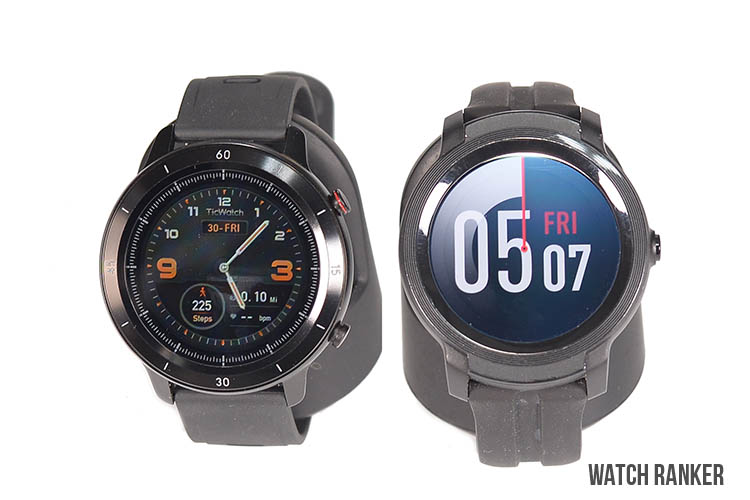 GTX and E2 Watch Faces display