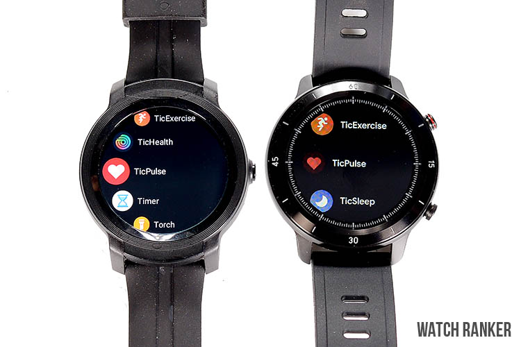 GTX vs E2 Watch main menu
