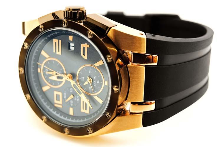 luxury golden man clock