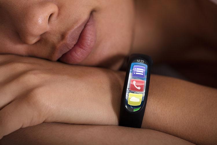 Smartwatch On Sleeping Woman's Hand