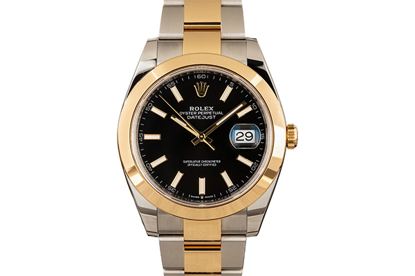 Rolex DateJust 41 Red 126303 Two Tone Oyster