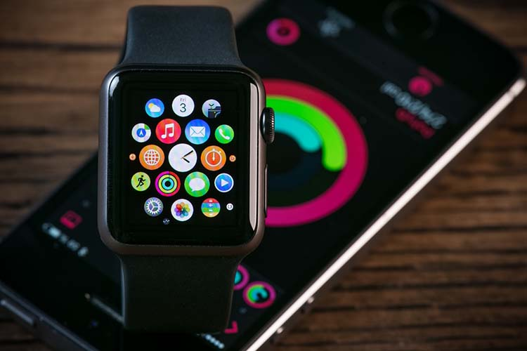 Apple watch with smartphone