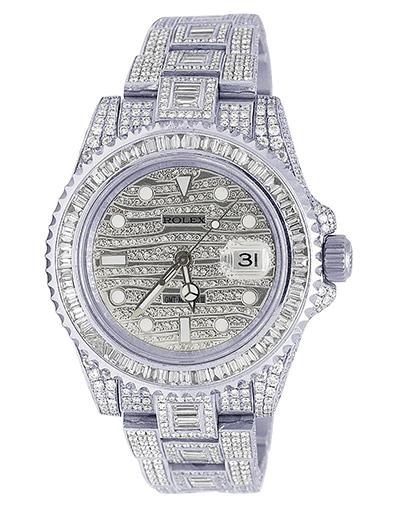 Rolex 18K White Gold GMT Master II Ice (116619)