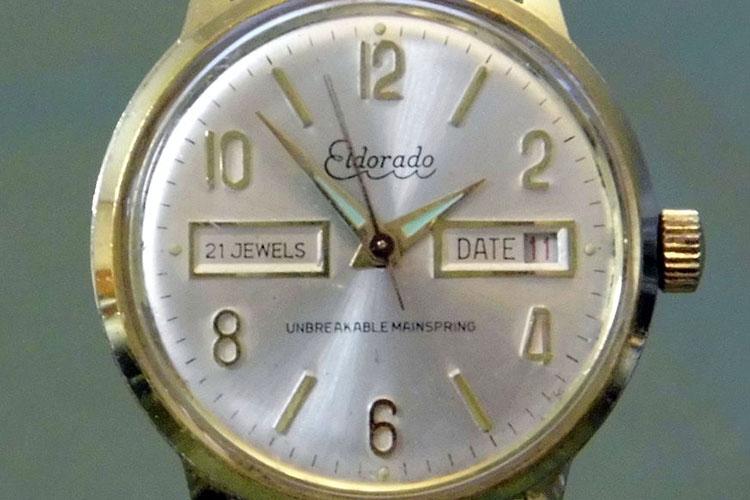 Vintage Eldorado Manual Wind Watch, 21 Jewels