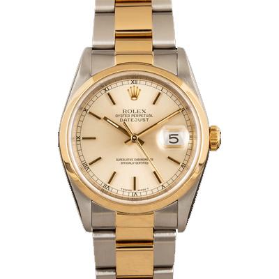 ROLEX DATEJUST 16203 yellow gold watch