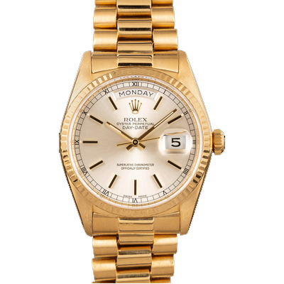 ROLEX DAY-DATE PRESIDENT 18038 18k yellow gold