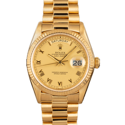 Rolex Day-Date 40 Automatic Champagne 18K Gold Watch (228238)