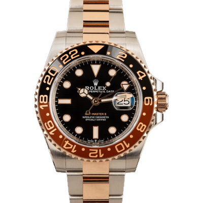 ACTUAL PHOTO PRE OWNED ROLEX GMT-MASTER II REF 126711CHNR TWO TONE EVEROSE